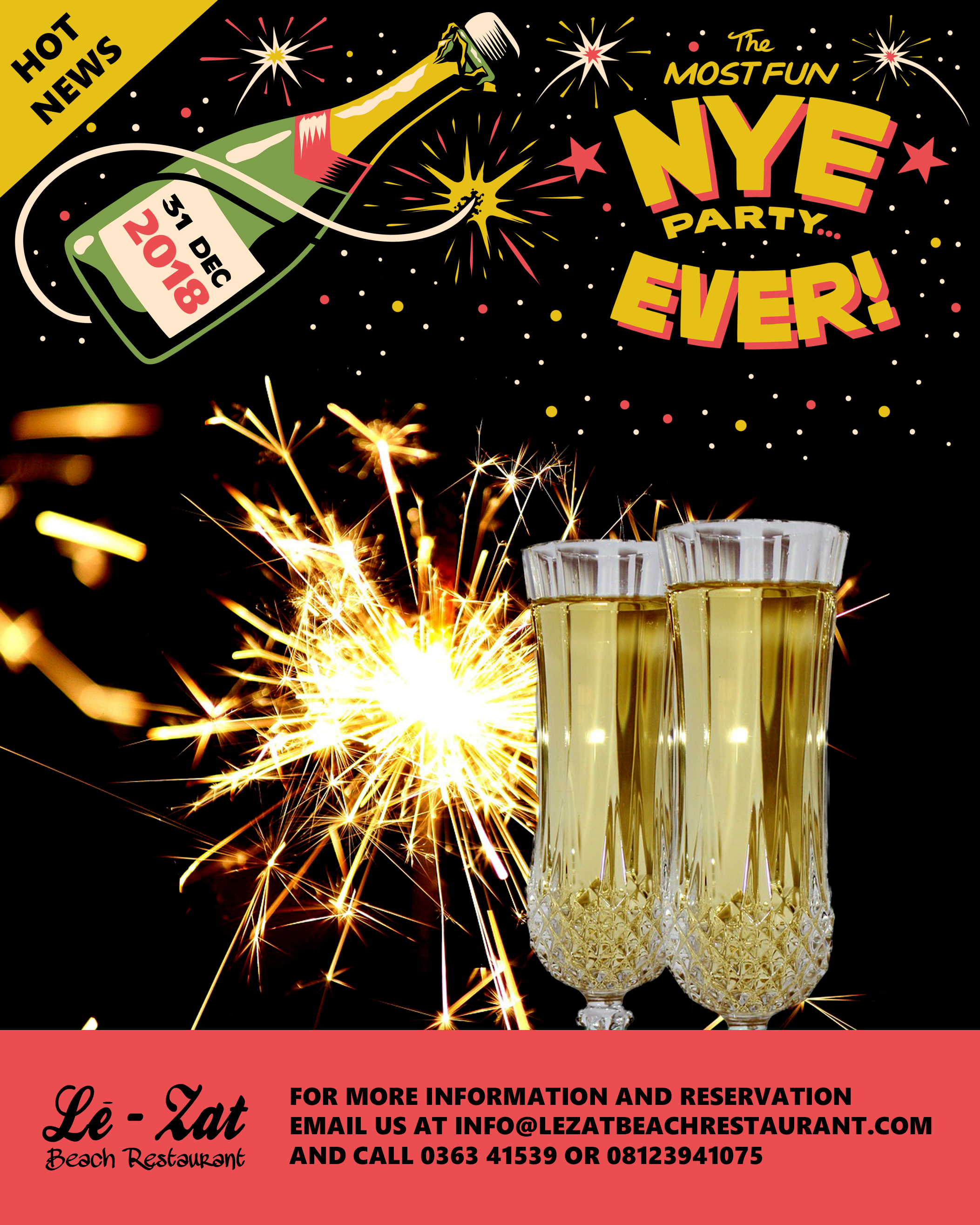 new years eve party 31st december 2018